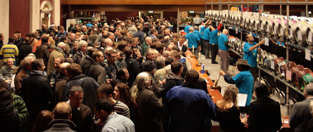 main hall at Battersea Beer Festival